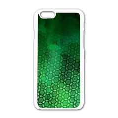 Ombre Green Abstract Forest Apple Iphone 6/6s White Enamel Case by DanaeStudio