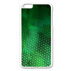 Ombre Green Abstract Forest Apple Iphone 6 Plus/6s Plus Enamel White Case