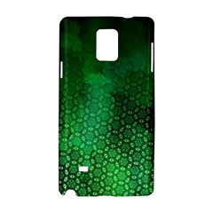 Ombre Green Abstract Forest Samsung Galaxy Note 4 Hardshell Case by DanaeStudio