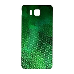Ombre Green Abstract Forest Samsung Galaxy Alpha Hardshell Back Case by DanaeStudio