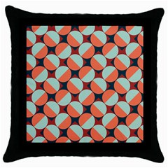 Modernist Geometric Tiles Throw Pillow Case (black) by DanaeStudio