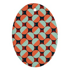 Modernist Geometric Tiles Oval Ornament (two Sides) by DanaeStudio