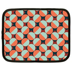 Modernist Geometric Tiles Netbook Case (large) by DanaeStudio