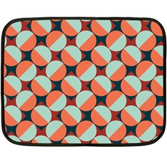 Modernist Geometric Tiles Double Sided Fleece Blanket (mini)  by DanaeStudio