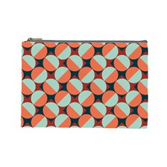 Modernist Geometric Tiles Cosmetic Bag (Large)