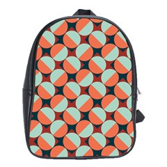 Modernist Geometric Tiles School Bags(Large)