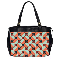 Modernist Geometric Tiles Office Handbags (2 Sides)  by DanaeStudio