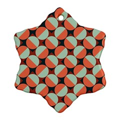 Modernist Geometric Tiles Snowflake Ornament (2-Side)