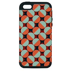 Modernist Geometric Tiles Apple Iphone 5 Hardshell Case (pc+silicone) by DanaeStudio