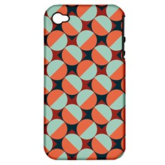 Modernist Geometric Tiles Apple Iphone 4/4s Hardshell Case (pc+silicone) by DanaeStudio