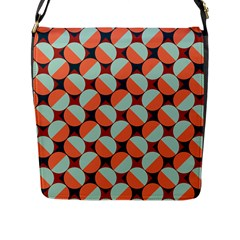 Modernist Geometric Tiles Flap Messenger Bag (l)  by DanaeStudio