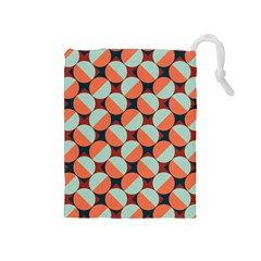 Modernist Geometric Tiles Drawstring Pouches (medium)  by DanaeStudio