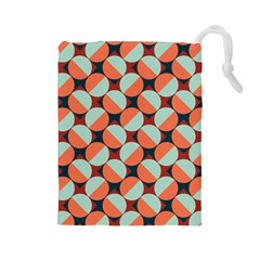 Modernist Geometric Tiles Drawstring Pouches (large)  by DanaeStudio
