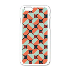 Modernist Geometric Tiles Apple Iphone 6/6s White Enamel Case by DanaeStudio