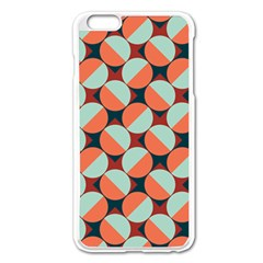 Modernist Geometric Tiles Apple Iphone 6 Plus/6s Plus Enamel White Case by DanaeStudio