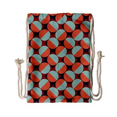 Modernist Geometric Tiles Drawstring Bag (small) by DanaeStudio