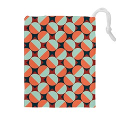 Modernist Geometric Tiles Drawstring Pouches (extra Large) by DanaeStudio