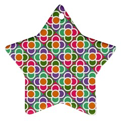 Modernist Floral Tiles Ornament (Star)
