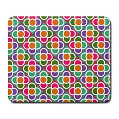 Modernist Floral Tiles Large Mousepads