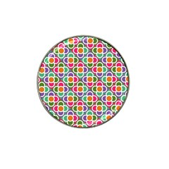Modernist Floral Tiles Hat Clip Ball Marker (4 pack)