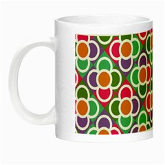 Modernist Floral Tiles Night Luminous Mugs