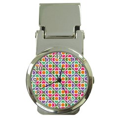 Modernist Floral Tiles Money Clip Watches