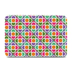 Modernist Floral Tiles Plate Mats by DanaeStudio