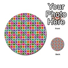 Modernist Floral Tiles Multi-purpose Cards (Round)