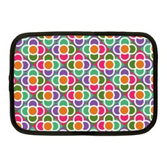Modernist Floral Tiles Netbook Case (Medium)