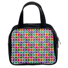 Modernist Floral Tiles Classic Handbags (2 Sides)