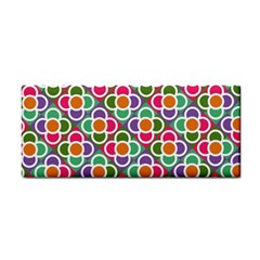 Modernist Floral Tiles Hand Towel