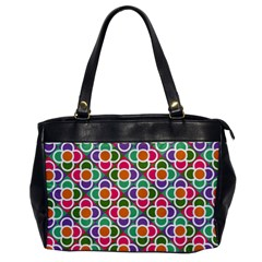 Modernist Floral Tiles Office Handbags