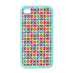 Modernist Floral Tiles Apple iPhone 4 Case (Color)