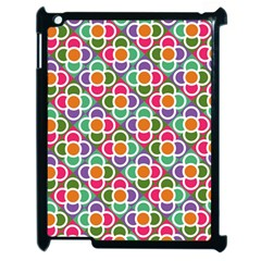Modernist Floral Tiles Apple Ipad 2 Case (black)