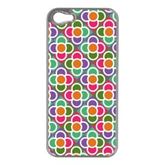 Modernist Floral Tiles Apple iPhone 5 Case (Silver)