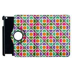 Modernist Floral Tiles Apple iPad 2 Flip 360 Case