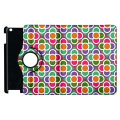Modernist Floral Tiles Apple iPad 3/4 Flip 360 Case