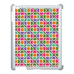 Modernist Floral Tiles Apple iPad 3/4 Case (White)