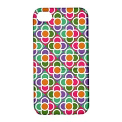 Modernist Floral Tiles Apple Iphone 4/4s Hardshell Case With Stand