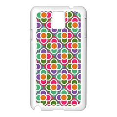 Modernist Floral Tiles Samsung Galaxy Note 3 N9005 Case (White)