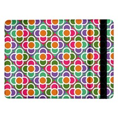 Modernist Floral Tiles Samsung Galaxy Tab Pro 12 2  Flip Case by DanaeStudio