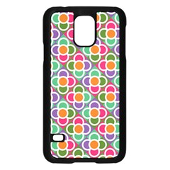 Modernist Floral Tiles Samsung Galaxy S5 Case (Black)
