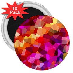 Geometric Fall Pattern 3  Magnets (10 Pack)  by DanaeStudio