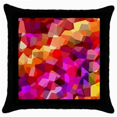 Geometric Fall Pattern Throw Pillow Case (black)