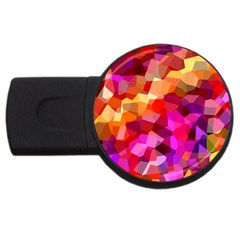 Geometric Fall Pattern Usb Flash Drive Round (2 Gb)