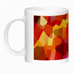 Geometric Fall Pattern Night Luminous Mugs by DanaeStudio