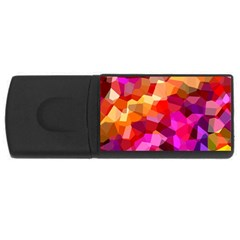 Geometric Fall Pattern Usb Flash Drive Rectangular (4 Gb)  by DanaeStudio