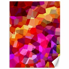 Geometric Fall Pattern Canvas 36  X 48   by DanaeStudio