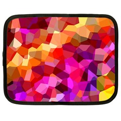Geometric Fall Pattern Netbook Case (large) by DanaeStudio