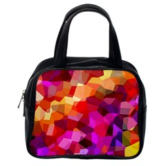 Geometric Fall Pattern Classic Handbags (one Side) by DanaeStudio